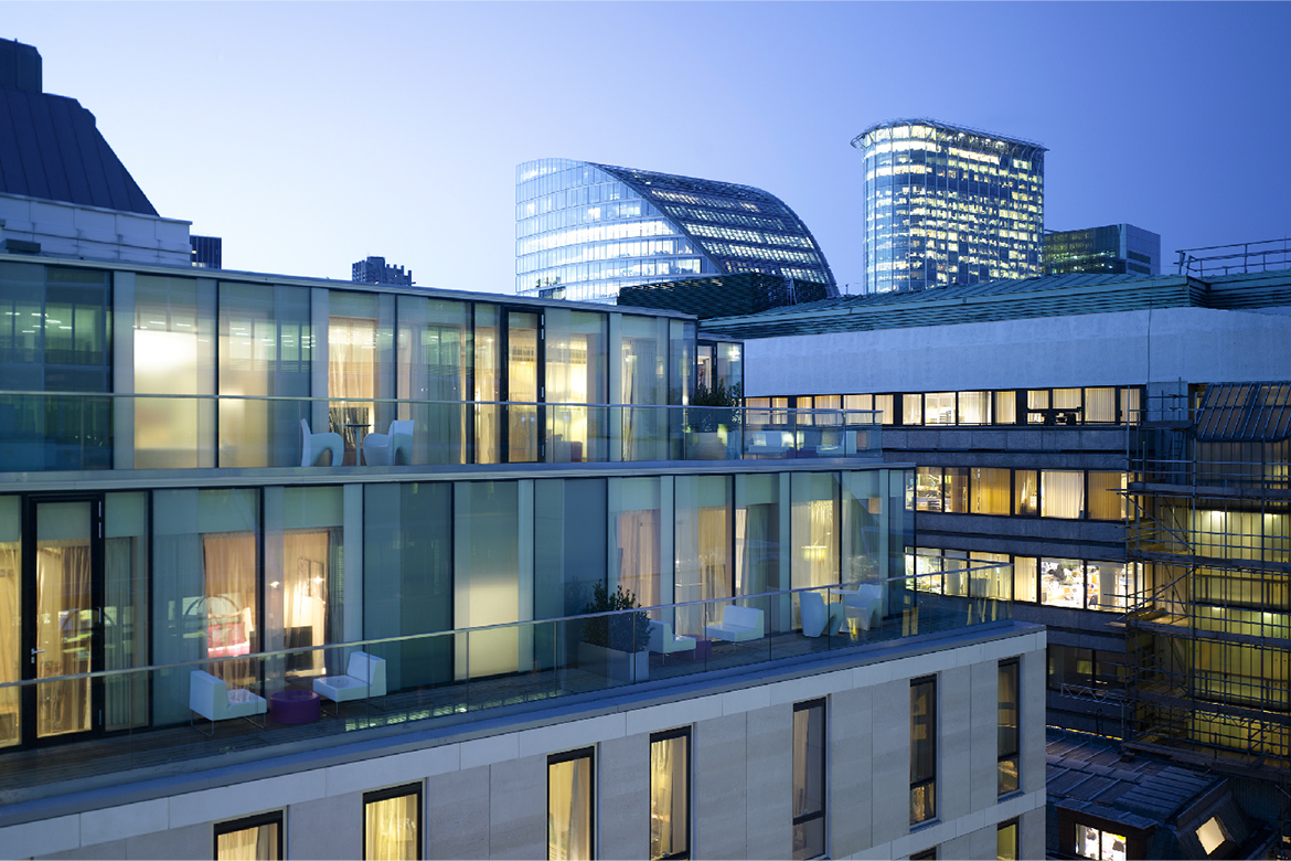Apex london wall hotel isa for Hotel isa design